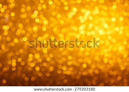 Warm golden light bokeh background - stock photo