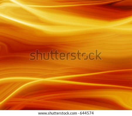Warm rays of flowing light backdrop