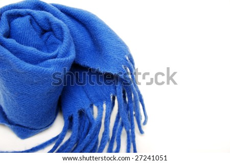 warm scarf in blue