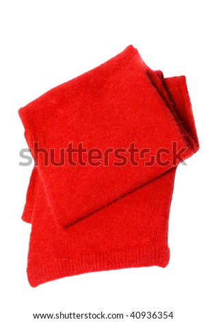 Warm Scarf made of wool isolated on white
