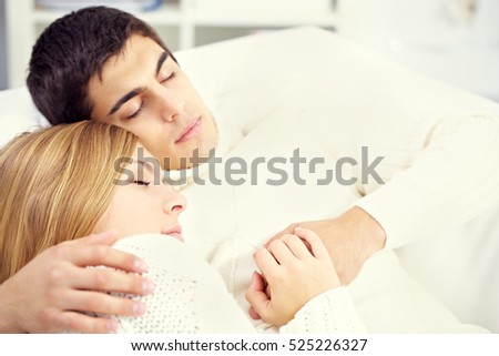 Warm sleeping couple