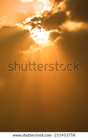 Warm sun light - stock photo