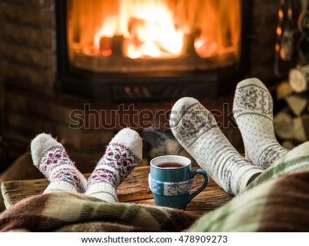 Feet In Front Of Fireplace Stock Images, Royalty-Free Images ...