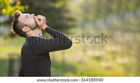 Warming up those muscles - stock photo