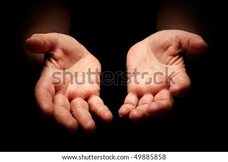 warmth female hands cupped