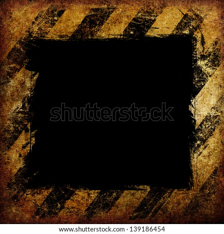 Warning Background Texture With Common Black and Yellow Stripes - stock photo