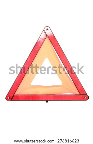 warning breakdown triangle studio cutout