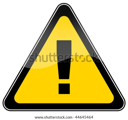 Warning danger sign - stock photo