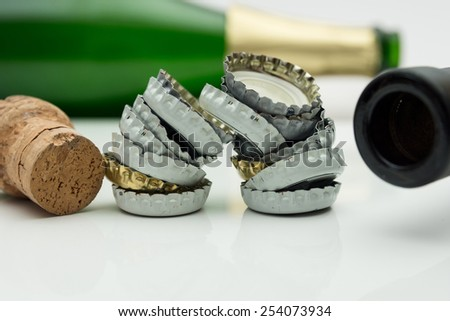 Warning of too much alcohol - stock photo