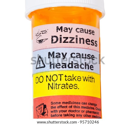 Warning on prescription bottle about nitrates and erectile dysfunction tablets