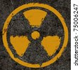 Warning radiation background texture - stock photo