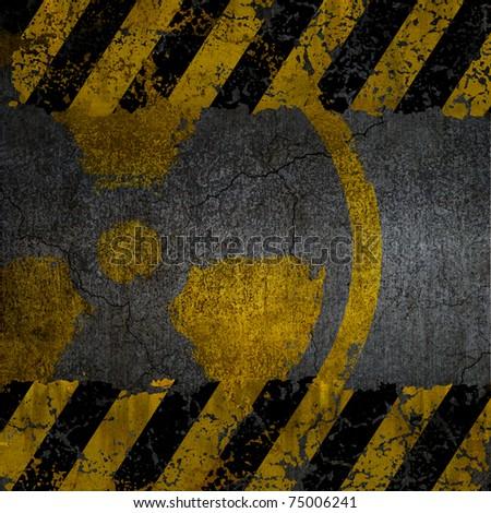 Warning radiation background texture - stock photo