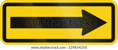 Warning road sign in Colombia - Go right - stock photo