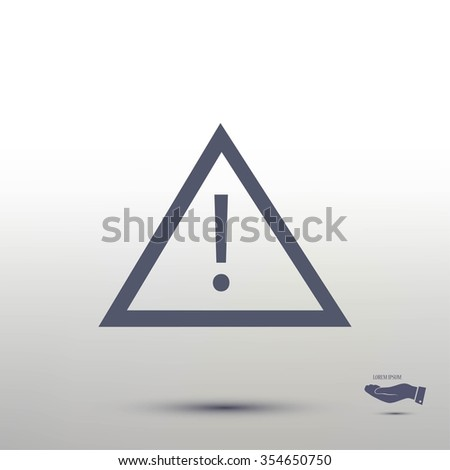 warning roadsign icon