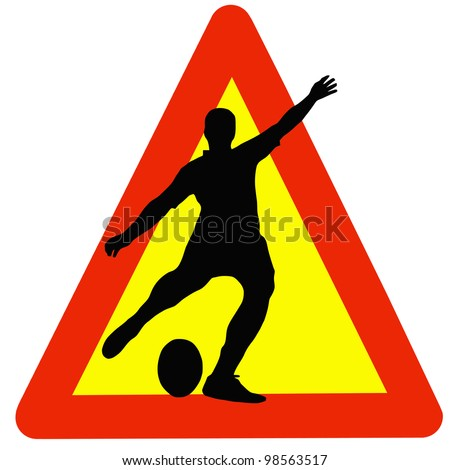 Warning Rugby Played Here on Traffic Sign