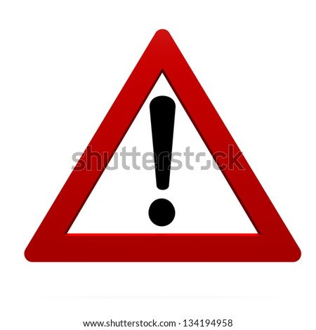 warning sign - stock photo