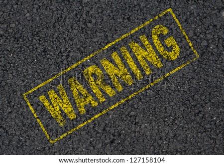 Warning sign background - stock photo