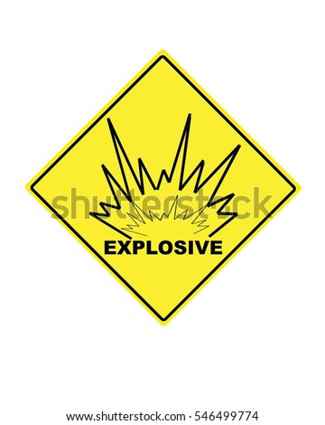warning sign for explosive compounds