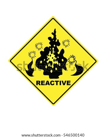 warning sign for reactive compounds