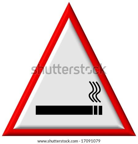 Warning sign - no smoking - stock photo