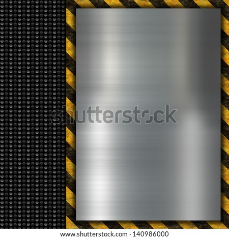 warning sign on black carbon background - stock photo