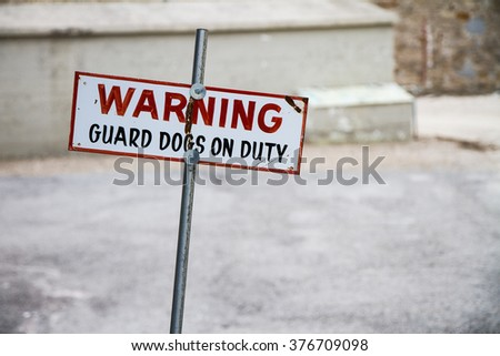 Warning sign to prevent people from entering. - stock photo