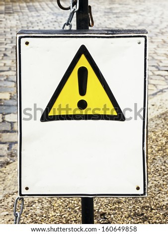 warning sign with space for text