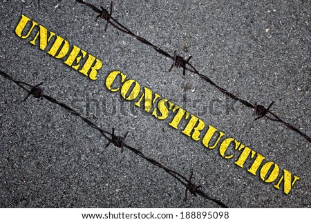 Warning sign, worn and grungy - stock photo