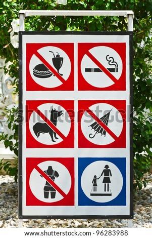 Warning signs - stock photo