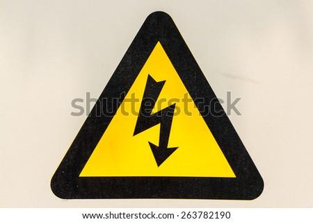 Warning signs danger - stock photo