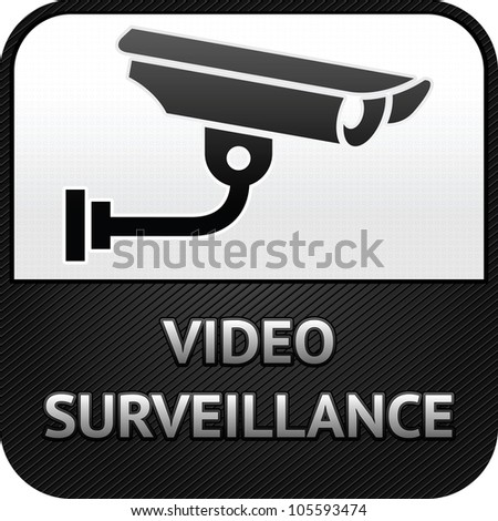 Warning Sticker for Security Alarm CCTV Camera Surveillance. A similar vector file is in my portfolio - stock photo