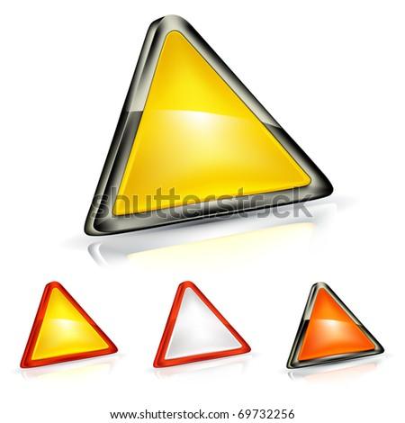 Warning Triangle, Bitmap copy - stock photo