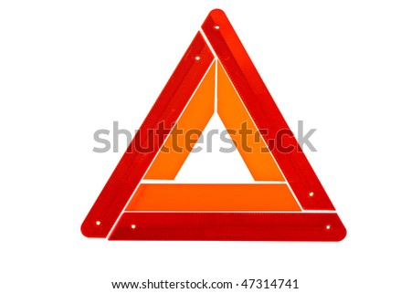 Warning triangle sign isolated on white background