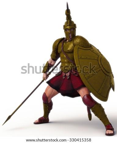 warrior 4 - stock photo