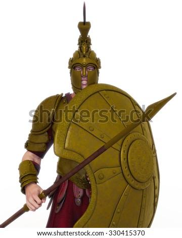 warrior - stock photo