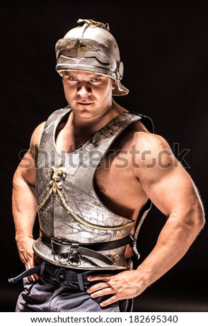 Warrior man - stock photo