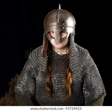 Warrior woman - stock photo