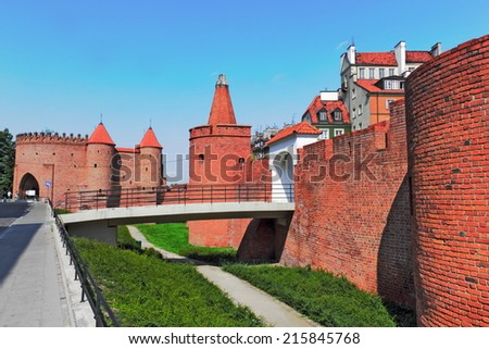 Warsaw city wall - stock photo