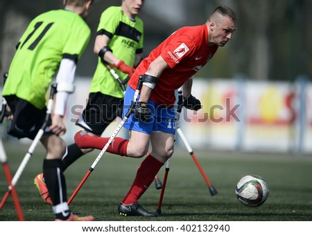 WARSAW, POLAND - APRIL 03, 2016: AMP Football Club cup Warsaw Poland 2016