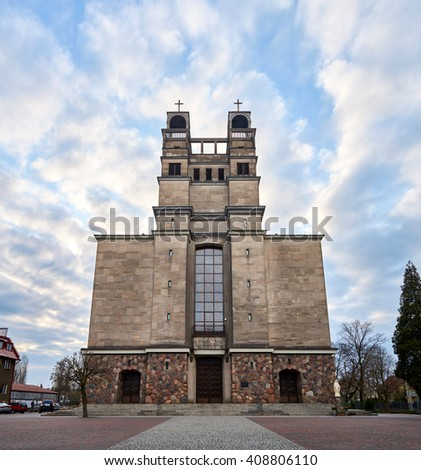 Warsaw, Poland - April 14, 2016: Roman Catholic Parish of St. Therese of the Child Jesus in Warsaw
