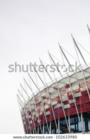 WARSAW, POLAND - APRIL 15, 2012: View of Poland's National Stadium before the Euro 2012 in April 15, 2012 in Warsaw.
