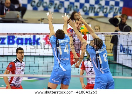 WARSAW, POLAND - APRIL 16, 2016: Volleyball Champions League Final Four