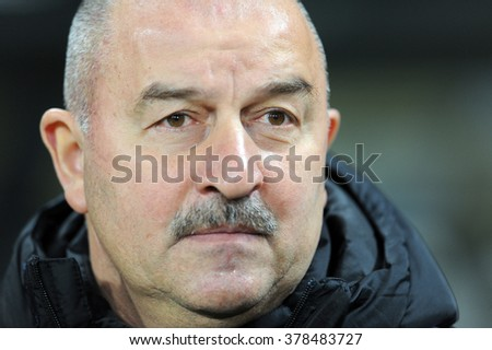 WARSAW, POLAND - FEBRUARY 14, 2016: T-Mobile Extra League Polish Premier Football League Legia Warsaw Jagiellonia Bialystok 