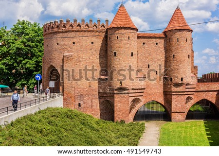 WARSAW, POLAND - MAY 28, 2016: Street view of old town in Warsaw. Warsaw is the capital and largest city of Poland.