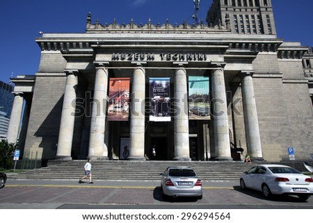 WARSAW, POLAND - SATURDAY, JUNE 6, 2015: A general view of the museum of technology in Warsaw.   - stock photo