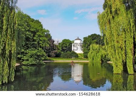 Warsaw, Saxon Garden - stock photo