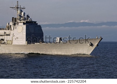 Warship. Ships and yachts collection - stock photo