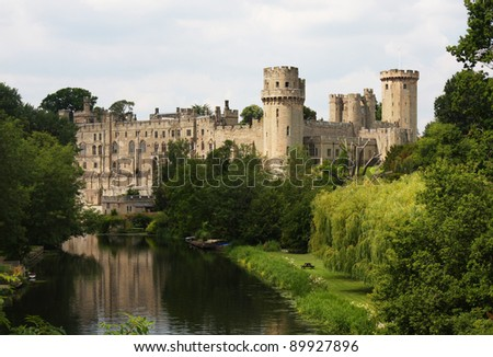 Warwick castle in Northern England
