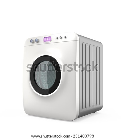 Wash machine with touch screen. Concept for IoT  (Internet of things)