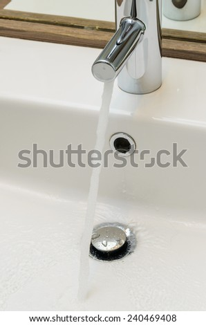 Washbasin in the bathroom. Photo for microstock - stock photo